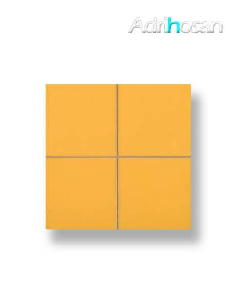 Revestimiento precorte 10x10 pasta roja liso mostaza brillo 20x20 cm (1 m2/cj)