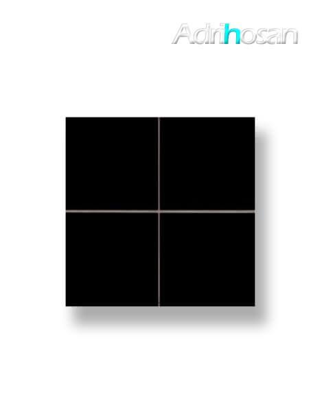 Revestimiento precorte 10x10 pasta roja liso negro mate 20x20 cm (1 m2/cj)
