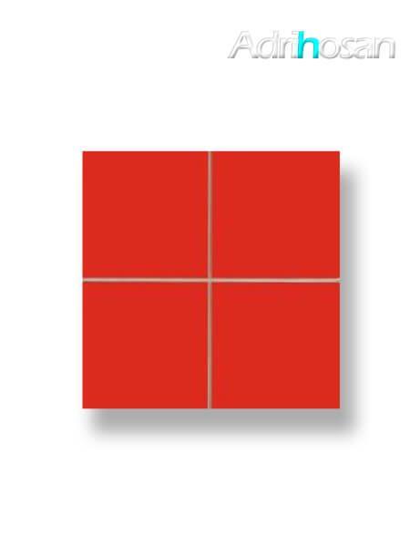 Revestimiento precorte 10x10 pasta roja liso rojo mate 20x20 cm (1 m2/cj)