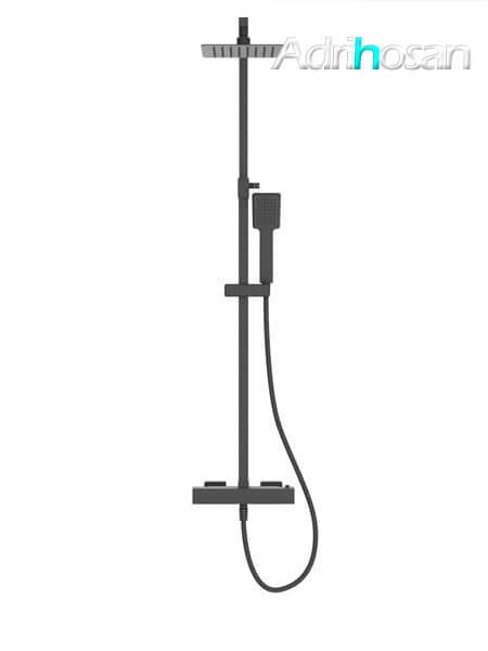 Columna de ducha termostática Sevilla negro mate