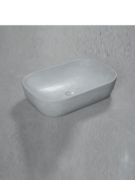 Lavabo microcemento sobre encimera Bowl Perla 60.5x40x15.5 cm. Descubre la exclusividad del microcemento. Un lavabo de diseño con válvula incluida.