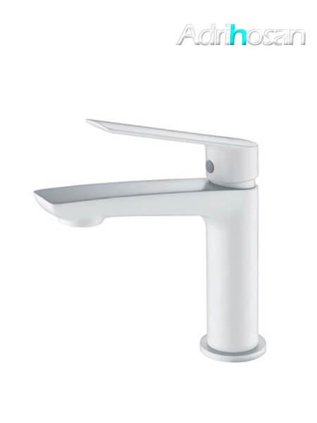 Monomando lavabo Castellón grifo blanco mate