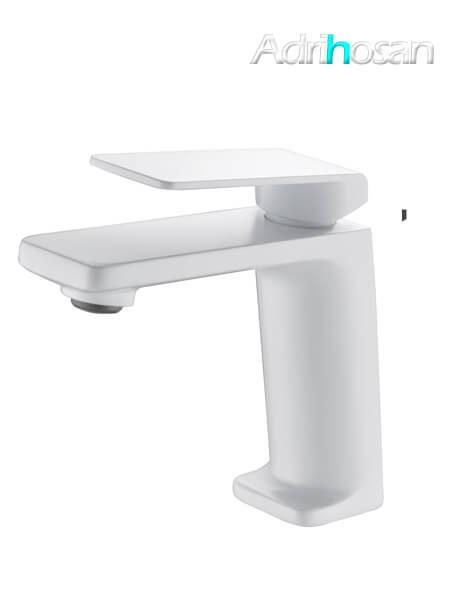 Monomando lavabo Lugo grifo blanco mate