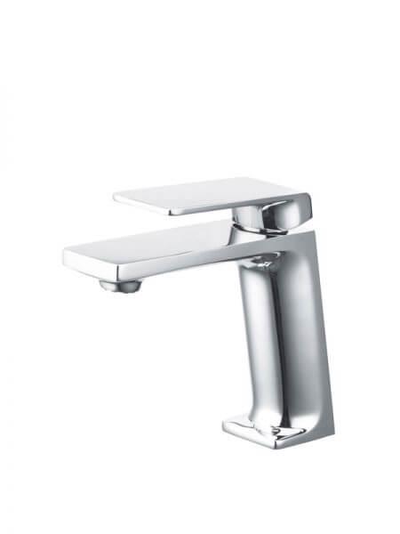 Monomando lavabo Lugo cromo brillo. La grifería Lugo se caracteriza por las suaves curvas que delimitan su contorno.
