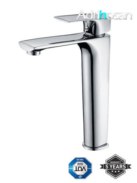 Monomando lavabo alto Liria grifo cromo brillo