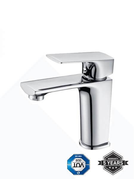 Monomando lavabo Liria cromo brillo. La grifería Liria se caracteriza por las suaves curvas que delimitan su contorno.
