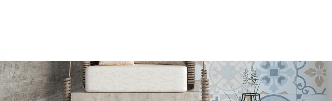 Pavimento porcelánico imitación hidráulico Landon 60x60 cm. Estilos Vintage con formato de azulejo grande que te dará la sensación de azulejo 20x20 cm.