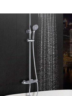 Columna de bañera termostática Granada cromada.