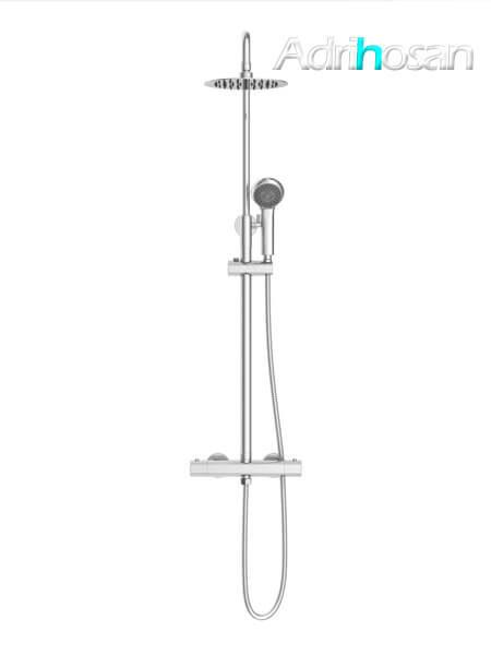 Columna de ducha termostática Madrid cromada.