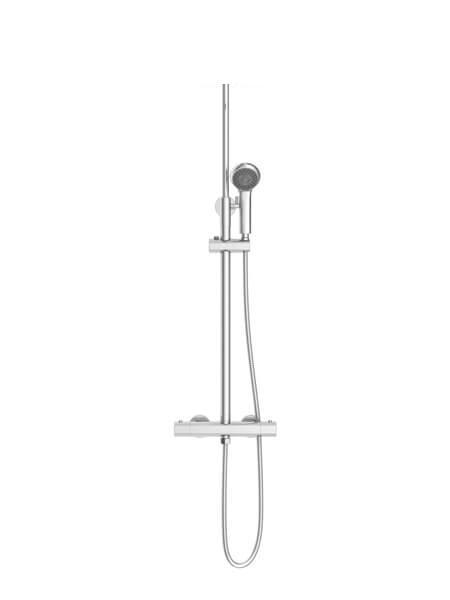 Columna de ducha termostática Madrid acabado cromo.