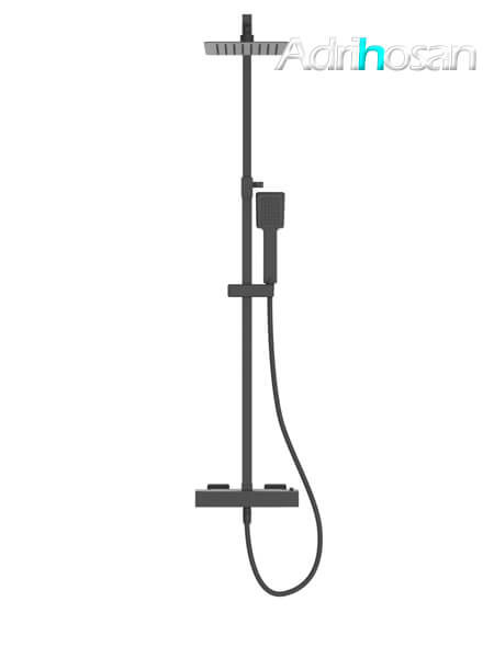 Columna de ducha termostática negra Murcia