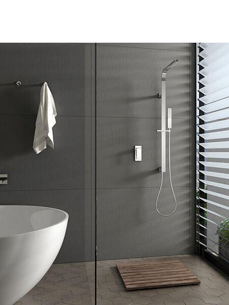 Conjunto ducha empotrado bristol grifería, rociador y teléfono.