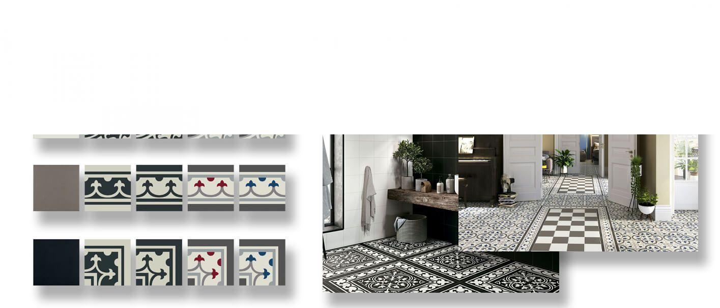 Pavimento imitación hidráulico Classic 20x20 cm.