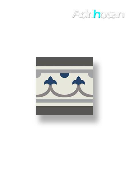 Pavimento imitación hidráulico Classic azul cenefa 20x20 cm (1 pza)