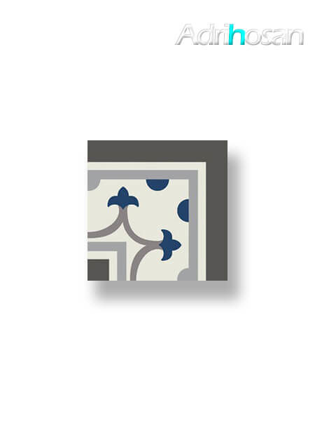 Pavimento imitación hidráulico Classic azul esquina 20x20 cm (1 pza)
