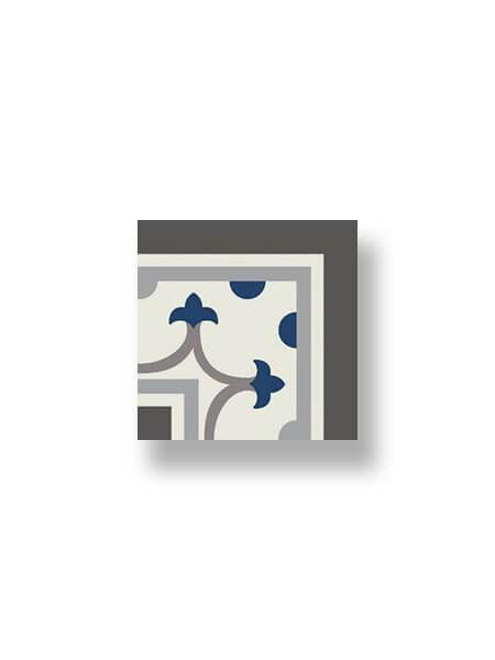 Pavimento imitación hidráulico Classic azul esquina 20x20 cm