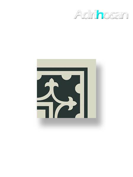Pavimento imitación hidráulico Classic blanco esquina 20x20 cm (1 pza)