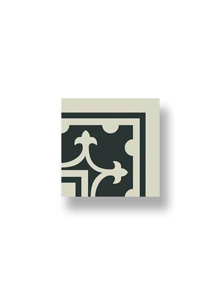 Pavimento imitación hidráulico Classic blanco esquina 20x20 cm