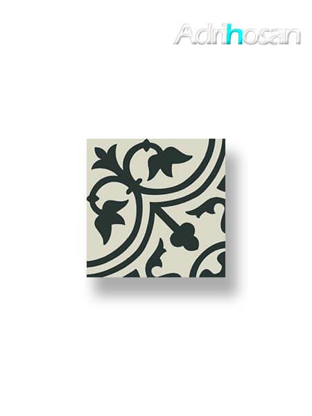 Pavimento imitación hidráulico Classic negro 20x20 cm (1 m2/cj)
