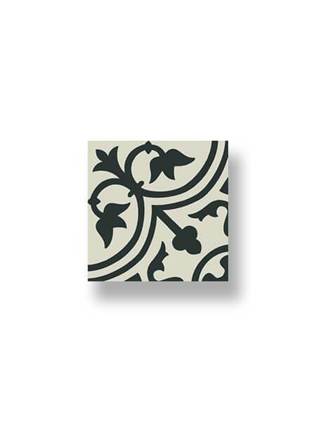 Pavimento imitación hidráulico Classic negro 20x20 cm.