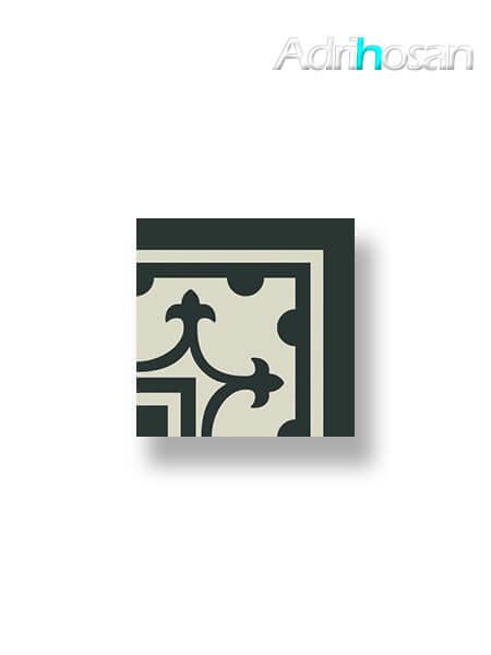 Pavimento imitación hidráulico Classic negro esquina 20x20 cm (1 pza)
