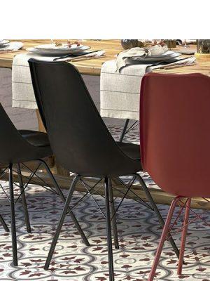 Pavimento imitación hidráulico Classic rojo 20x20 cm.