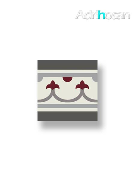 Pavimento imitación hidráulico Classic rojo cenefa 20x20 cm (1 pza)