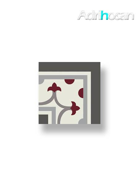 Pavimento imitación hidráulico Classic rojo esquina 20x20 cm (1 pza)