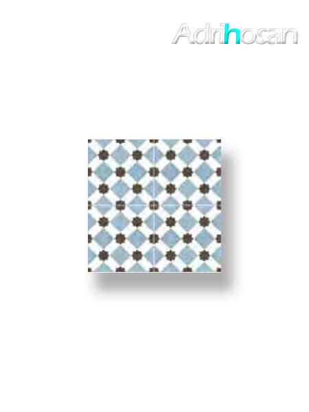 Pavimento porcelánico hidráulico Valencia azul 45x45 cm (precorte 22.5x22.5 cm)