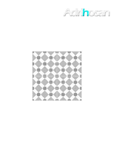 Pavimento porcelánico hidráulico Valencia gris 45x45 cm (precorte 22.5x22.5 cm)