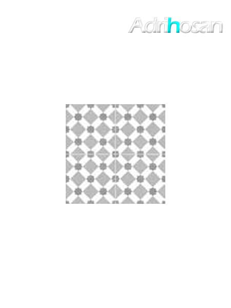 Pavimento porcelánico hidráulico Zuheros gris 45x45 cm precorte 20x20 cm.