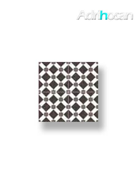 Pavimento porcelánico hidráulico Valencia negro 45x45 cm (precorte 22.5x22.5 cm)