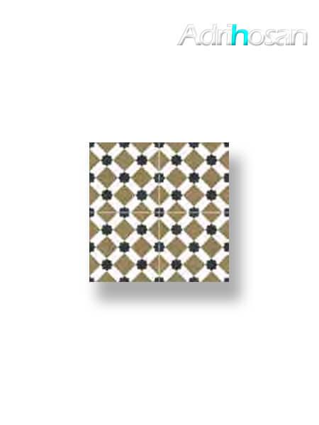 Pavimento porcelánico hidráulico Zuheros oliva 45x45 cm precorte 20x20 cm.
