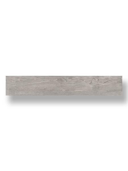 Pavimento porcelánico rectificado Gems ceniza 20x120 cm.