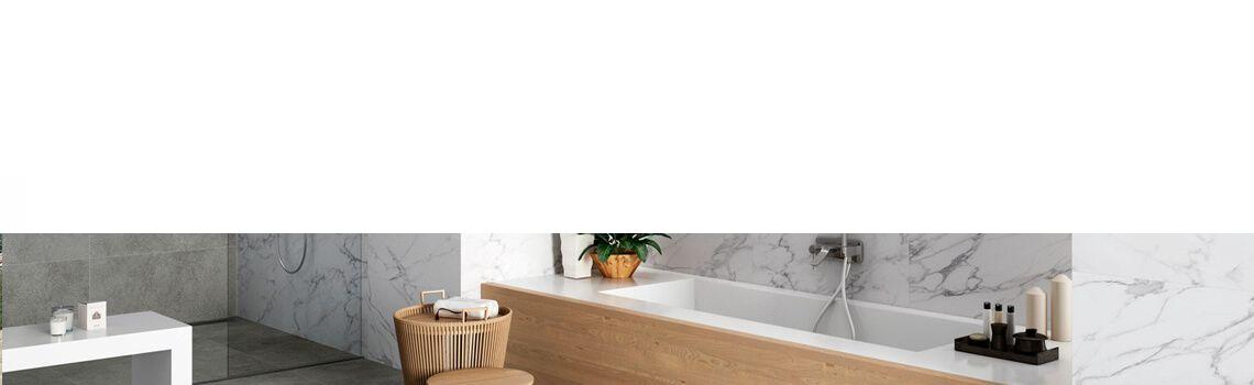 Pavimento porcelánico rectificado Nola blanco mate 45 x 90 cm
