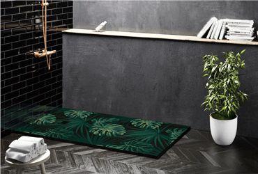Platos de ducha textura pizarra y decorados Adrihosan