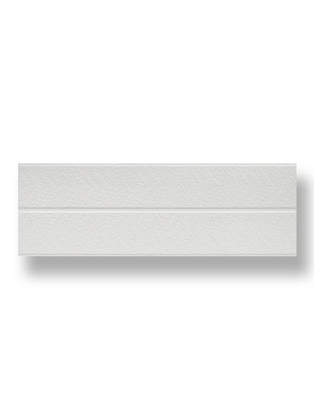 Revestimiento decorado pasta blanca rectificado blanco brillo 40x120 cm. Ideal para el chapado de baños o cocinas con un acabado de blanco puro en brillo.