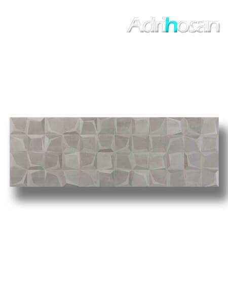 Azulejo decorado pasta blanca rectificado Tulle gris 30x90 cm (1.08 m2/cj)