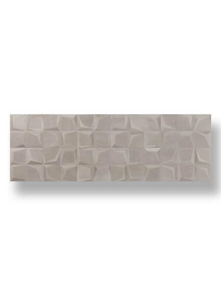 Azulejo decorado pasta blanca rectificado Tulle noce mate 30x90 cm
