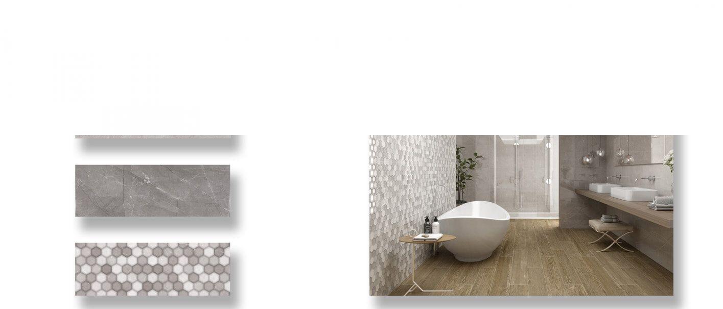 Azulejo pasta blanca rectificado Alivery 30x90 cm.