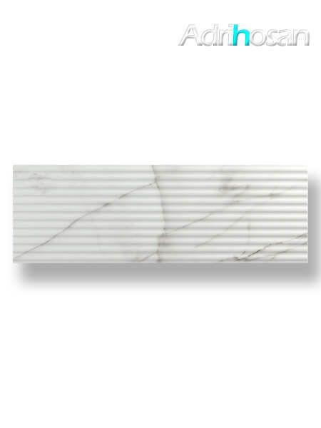Azulejo decorado pasta blanca rectificado calacatta mate 30x90 cm (1.08 m2/cj)