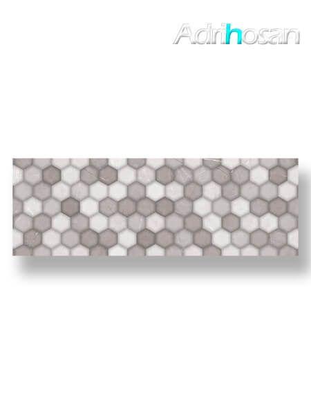 Azulejo pasta blanca rectificado decorado Alivery perla 30x90 cm (1.08 m2/cj)