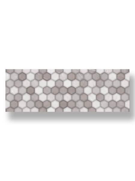 Azulejo pasta blanca rectificado decorado Alivery perla 30x90 cm.