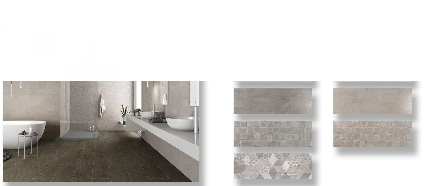 Azulejo pasta blanca rectificado Tulle mate 30x90 cm.