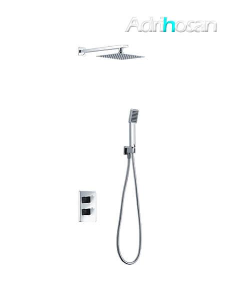 Conjunto de ducha termostático con rociador cuadrado Sun