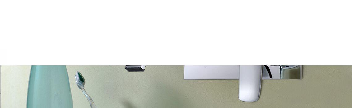 Monomando lavabo empotrado Narvona cromado.