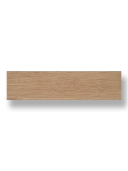 Pavimento porcelánico Ecija Haya 25x100 cm imitación madera.
