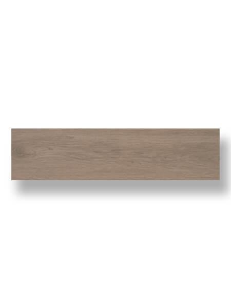 Pavimento porcelánico Ecija Noce 25x100 cm imitación madera.