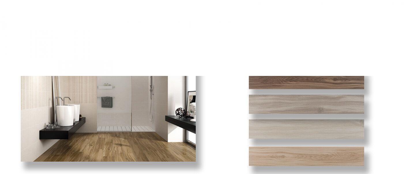 Pavimento porcelánico rectificado Cuellar 20x120 cm.