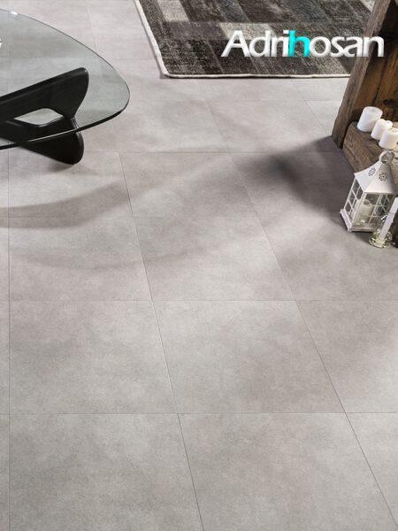 Pavimento porcelánico antideslizante Zurich gris 60,8x60,8 cm (1.48 m2/cj)